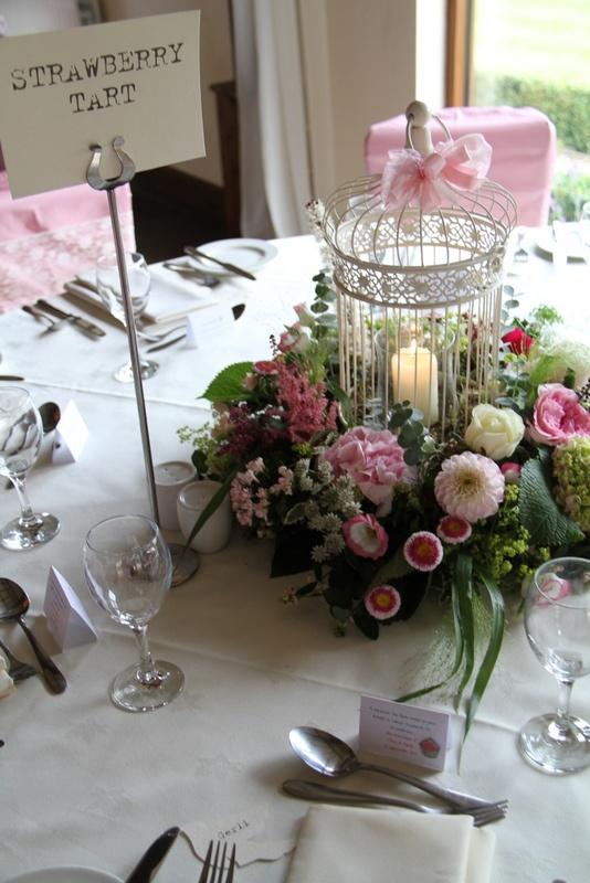 Afternoon Tea inspired Wedding Bird Cage Centrepiece | Afternoon Tea Wedding Inspiration at Boringdon Hall