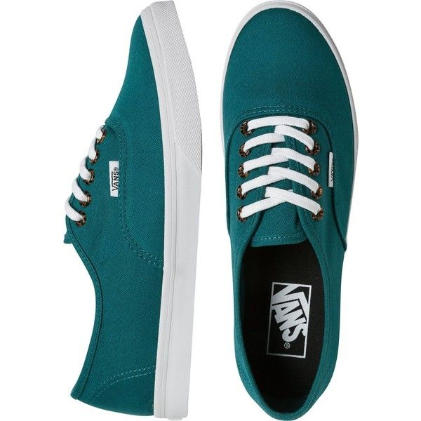 Vans Tortoise Eyelets Lo Pro Shoe ($45) ❤ liked on Polyvore featuring shoes, sneakers, vans, teal, lacing sneakers, lace up sneakers, teal shoes, laced up shoes and lace up shoes