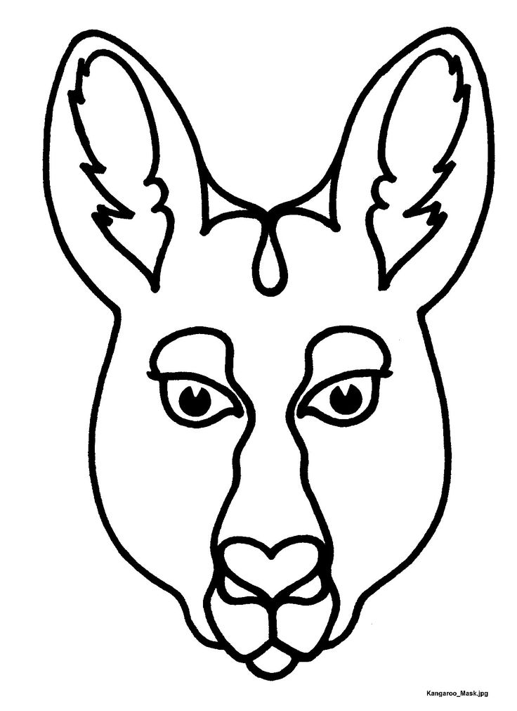 Mask templates for Australian (& other) animals,