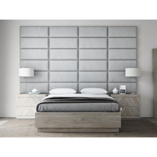 Bernardsville Upholstered Panel Headboard Upholstered Wall