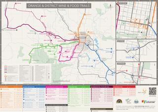Wine & Food Map for Orange & District