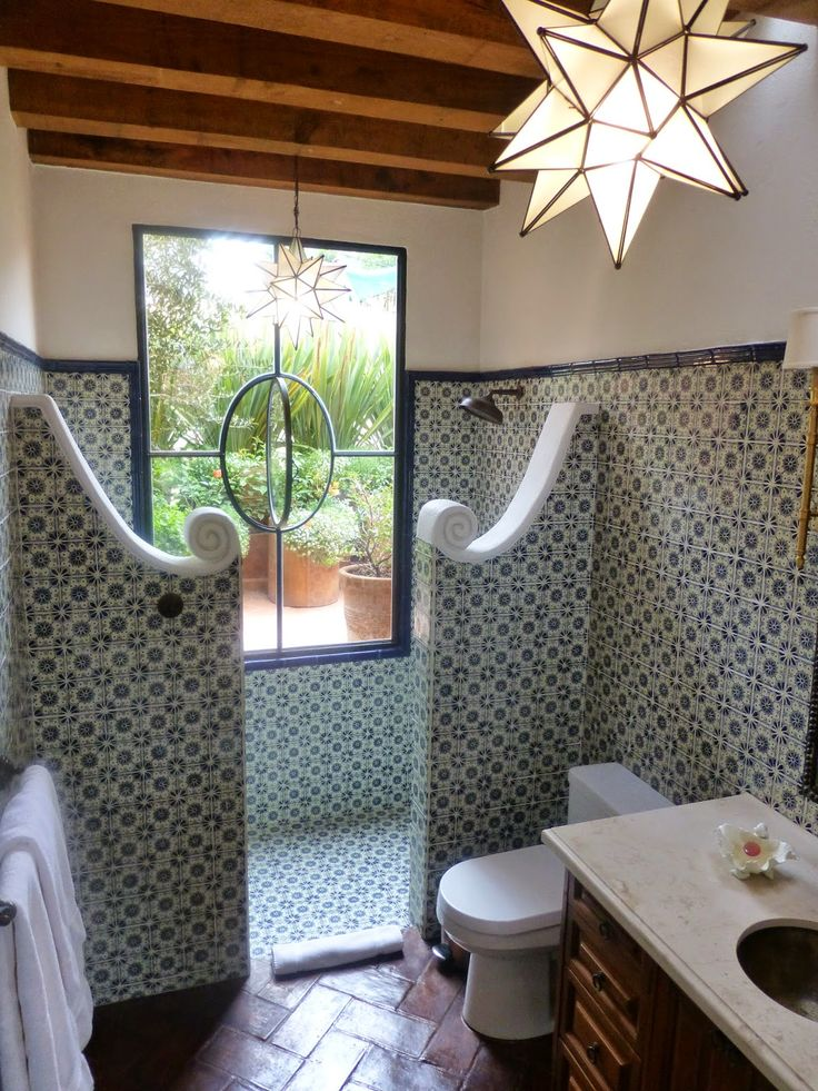 Spanish tiles bathroom designs