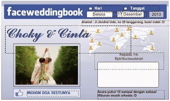 template undangan pernikahan facebook