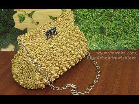 Crochet || Tutorial Tas Rajut Pesta - Bobble Stitch - YouTube