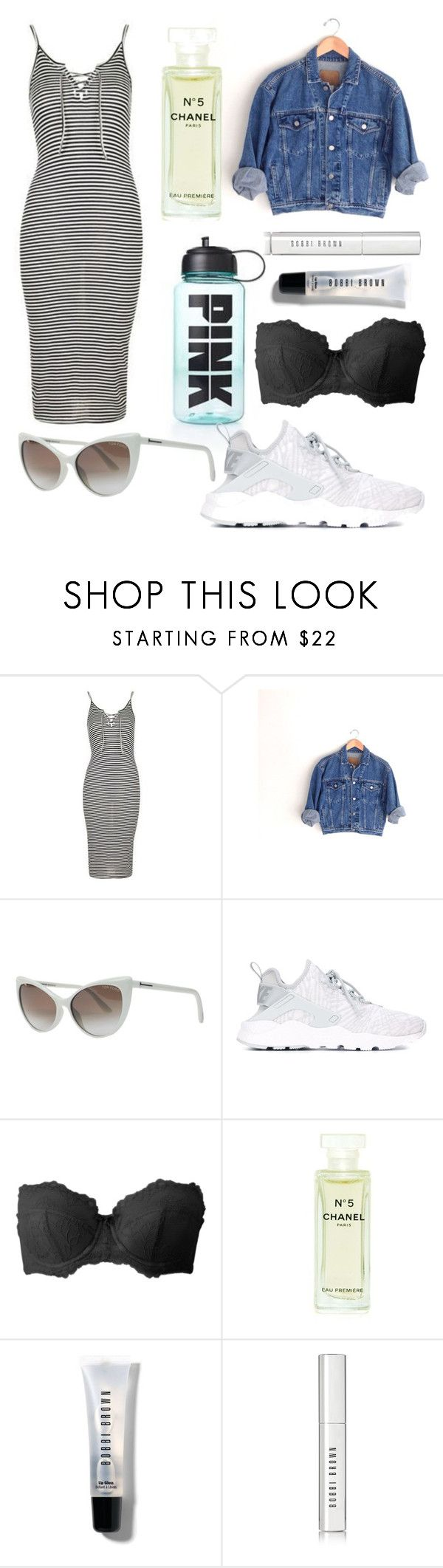 """""""Woods… Again…"""" by arimoffitt ❤ liked on Polyvore featuring Topshop, Victoria's Secret, Tom Ford, NIKE, Gossard, Chanel and Bobbi Brown Cosmetics"""