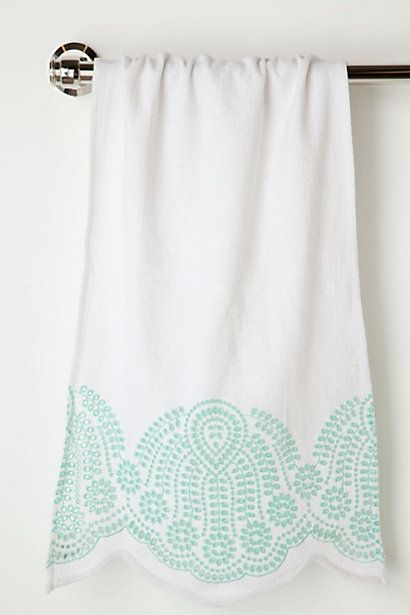 Half-Shell Hand Towel  #anthropologie