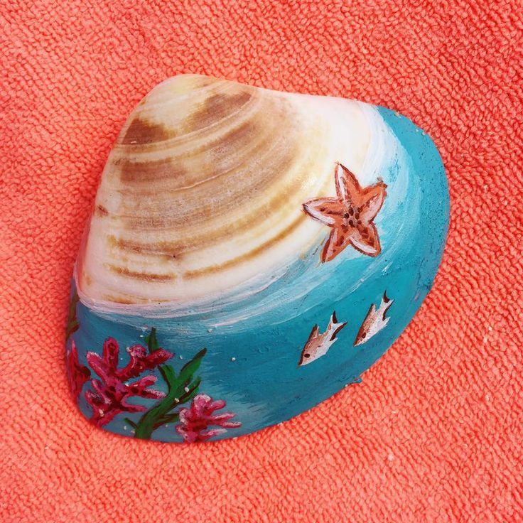 Use this little shell like canvas :) Love the sea