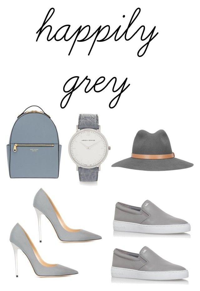 glam in grey by earringsandstuff on Polyvore featuring polyvore, fashion, style, MICHAEL Michael Kors, Jimmy Choo, Henri Bendel, Larsson & Jennings, rag & bone and happilygrey