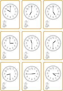 Uhrzeiten lesen - schwarzer Peter