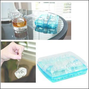 """Tritan Chill Rocks Gift . This set includes four reusable ice rocks and eight clips packed in a tray for chilling your beverage without diluting it. The tray has a lid and easily fits in freezer. Store everything in the freezer so that it"""" s ready to use whenever you want a cold drink. Just attach the clip to an ice rock and hang on the side of your glass. FDA compliant."""