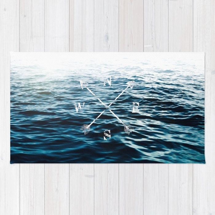 Winds of the Sea Rug by Nicklas Gustafsson | Society6 #sea #ocean #waves #blue #landscape #seascape #typography #adventure #summer #travel #rug #homedecor