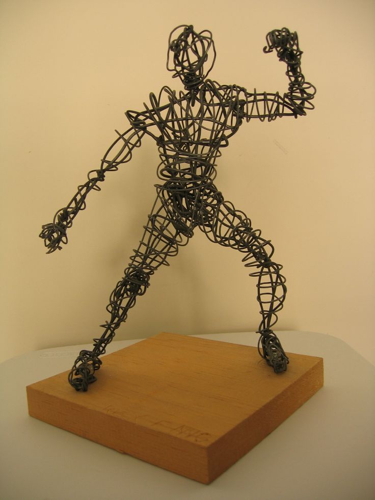 18 best wire sculptures of the human form images on for Wire art projects
