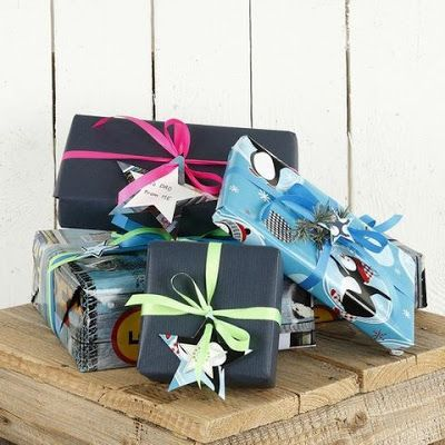 Gift Wrapping, Blue Inspiration