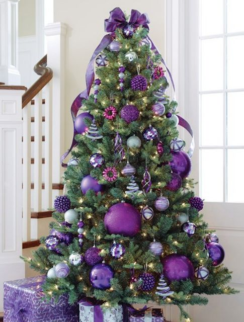 Pretty little purple Christmas tree~❥ @Lisa Phillips-Barton Phillips-Barton Byrd Hillman