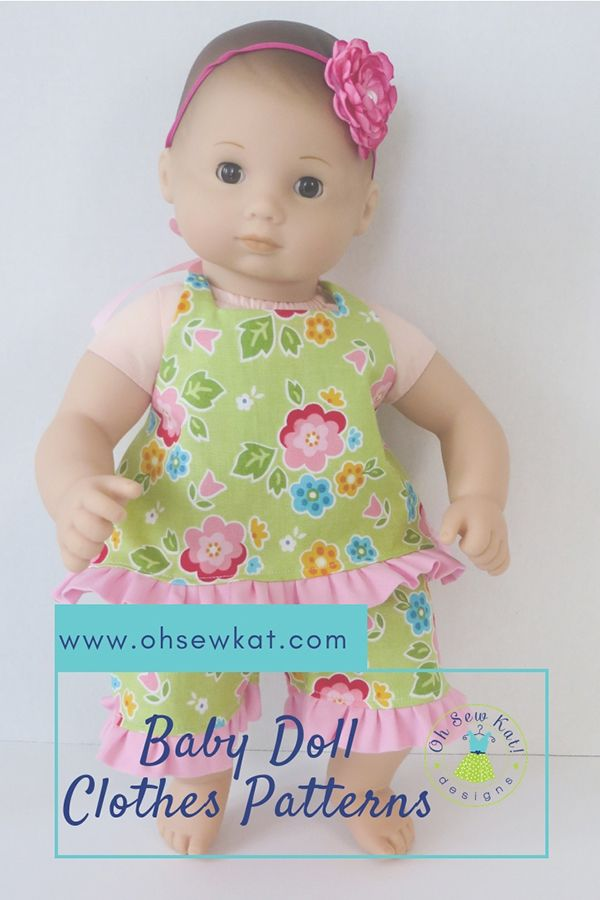 Sewing Patterns To Make Baby Doll Clothes Baby Doll Clothes Baby Dolls Dolls Clothes Diy