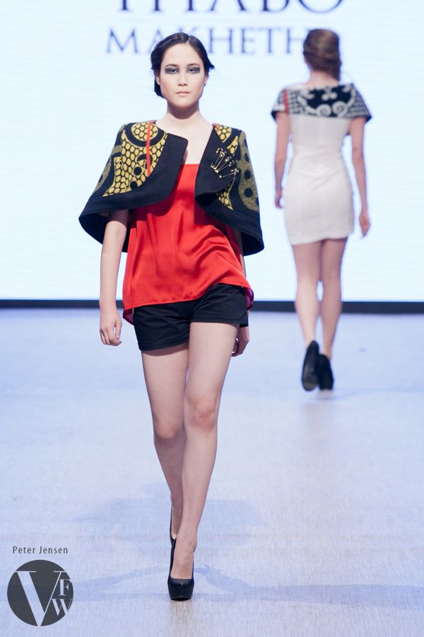 Emerging fashion designer Thabo Makhetha launched her modern take on the Basotho blanket at Vancouver Fashion Week 2014.