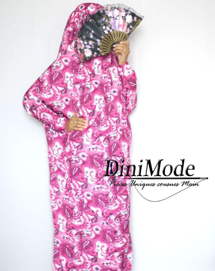 "Confection DM Jilbab De maison ""Rosa"" TU via DiniMode. Click on the image to see more!"