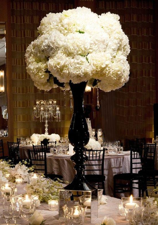 Black and white wedding wedding black ceremony flowers inspiration ivory