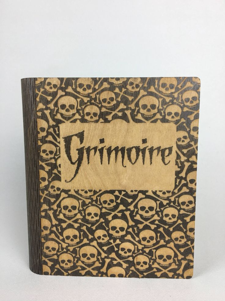 Magnetic Latch Book Box-Skull and Crossbones Grimoire by PixieLaneVinylDesign on Etsy