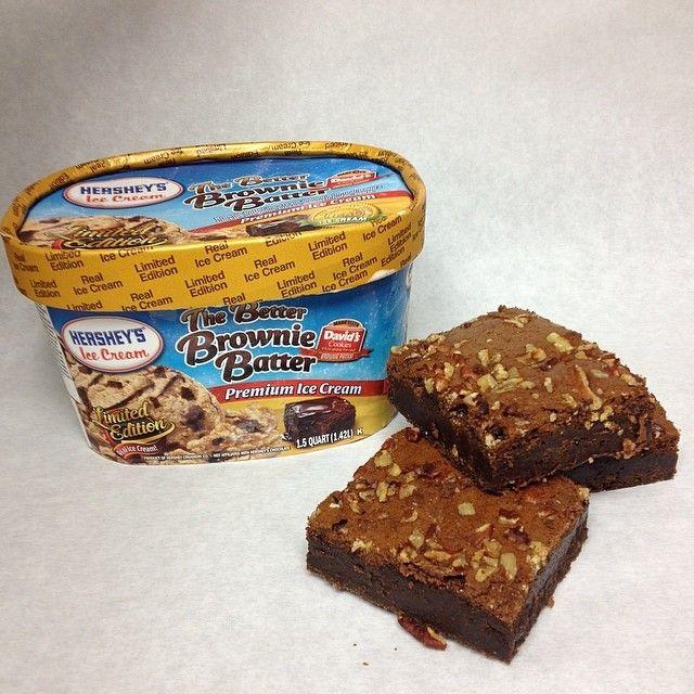 Hershey's Ice Cream  with Davids Cookies Brownie#davidscookiespr #davidscookies #brownie #hershey's#supermax