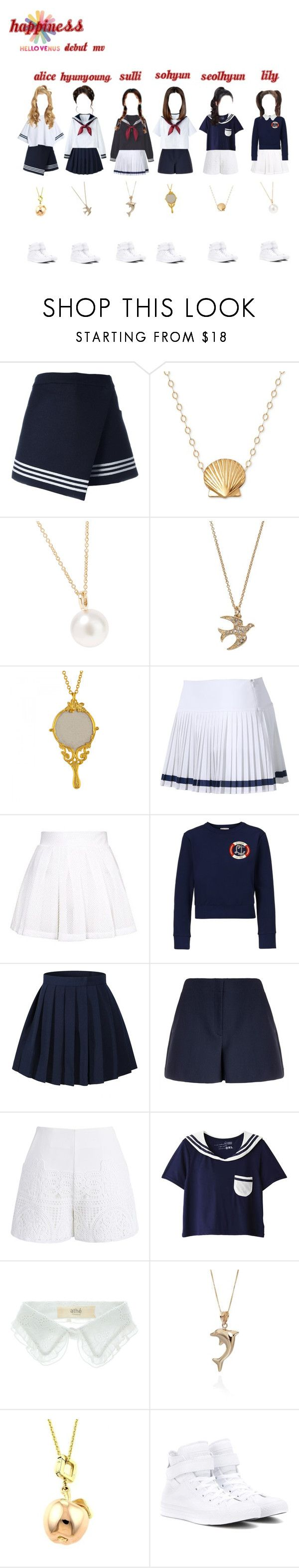 """""""Hello Venus! Happiness Debut MV 2013"""" by kpopgroups101 ❤ liked on Polyvore featuring Sea, New York, Sophie Bille Brahe, Alex Monroe, Lacoste, Topshop, Olympia Le-Tan, Theory, Chicwish, Vanessa Bruno Athé and Belk & Co."""