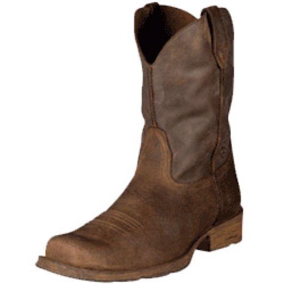 ARIAT RAMBLER BROWN LEATHER BOOTS,MENS sz 9, NEW #Ariat #CowboyWestern