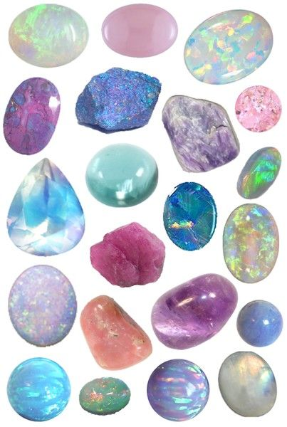 Opals ...My imagination of creation of blingfrom these different opals...ooh