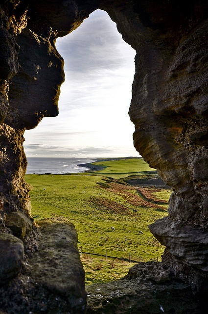 Looking south, Craster, England...a natural archway