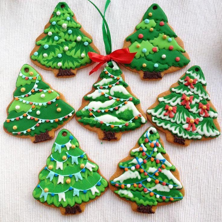 Biscotti Natalizi #alberodinatale by art_biscotti Christmas cookie