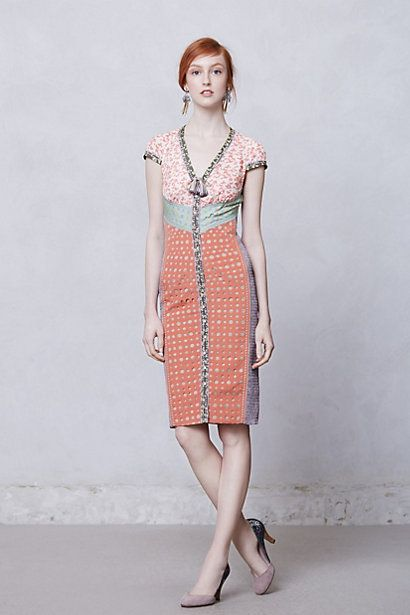Clothes Im currently crazy about. Anything by Byron Lars! Lasercut Springtime Sheath #anthropologie
