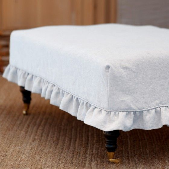 Ruffled Slipcover For Hazel Ottoman Sofa Sectional