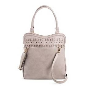 The epitome of chic, this Under One Sky Women's Hobo Handbag in Grey is an instant outfit upgrade. Gold-tone studded details bring subtle glam to this fun and functional women's handbag.