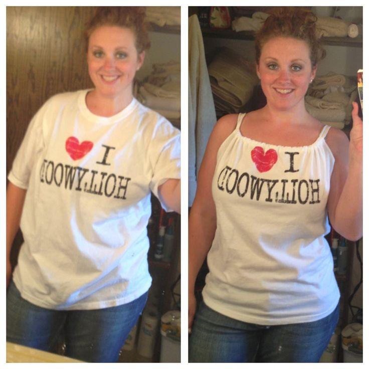 Repurposed t-shirt!
