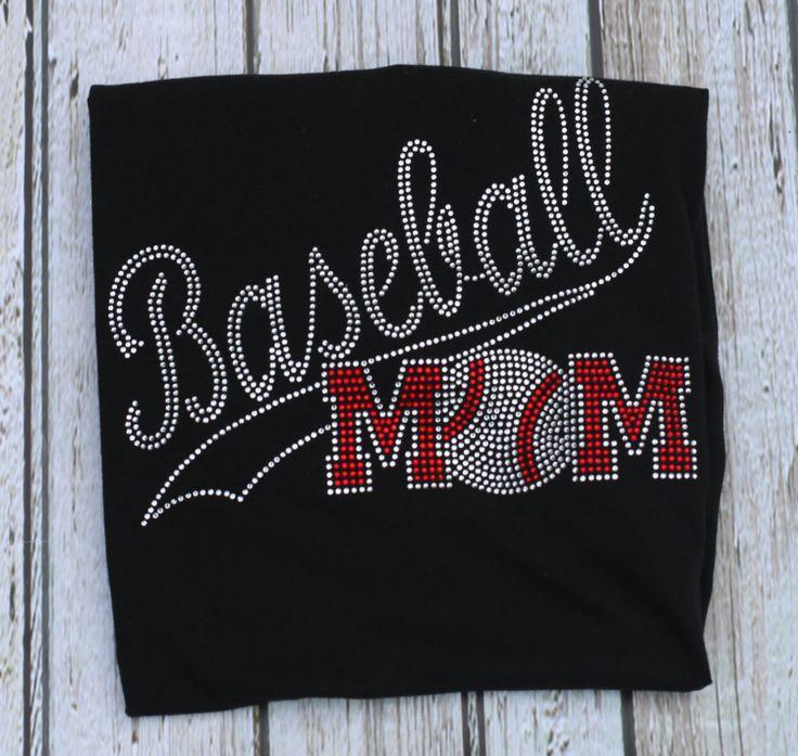 Baseball MOM Bling Rhinestone Shirt by GlitterBeeInc on Etsy, $20.00