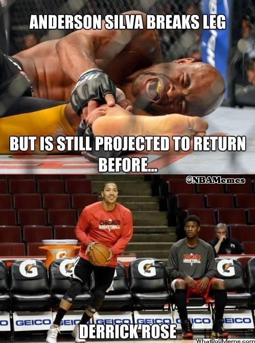 Feel better, Anderson Silva and Derrick Rose! - http://hoopsternation.com/feel-better-anderson-silva-and-derrick-rose/