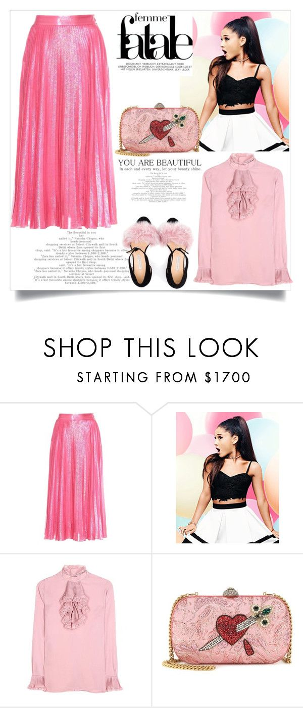 """Gucci skirt Plissè"" by sally92 on Polyvore featuring moda, Gucci, Lipsy, Bionda Castana e skirt"