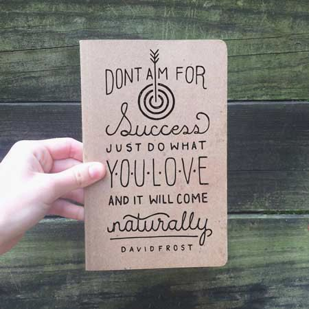 Lettering Project by Amanda Powers, via Behance | #advice #quote