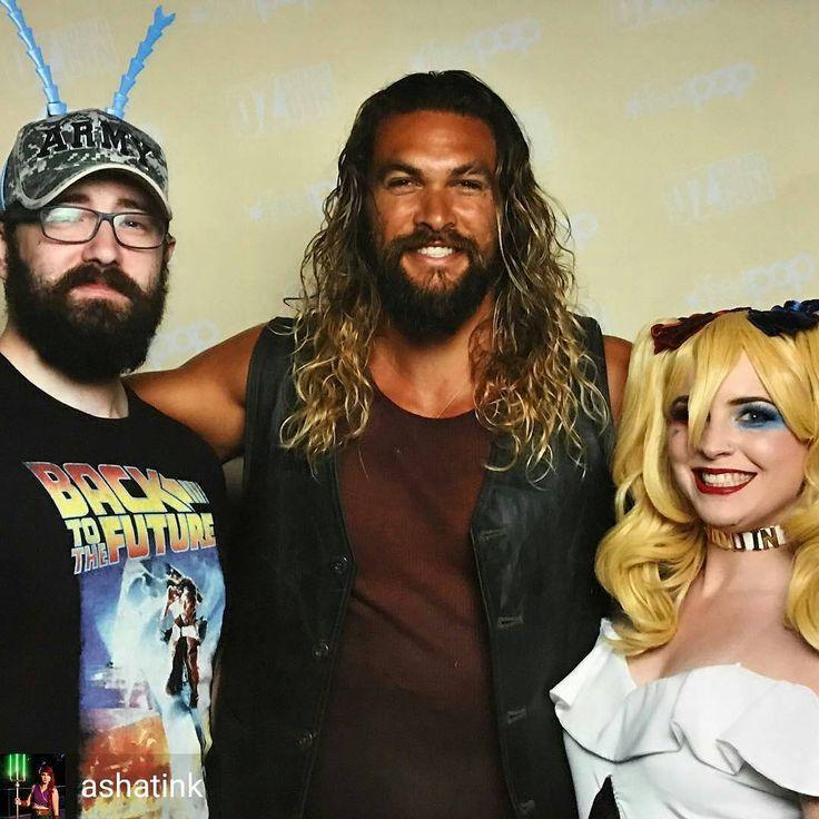 @Regrann from @ashatink - Best part of the day was meeting Jason Momoa aka Aquaman @prideofgypsies is an awesome guy. #ozcomiccon2017 #ozcomicconbrisbane #ozcomiccon #cosplayer #harleyquinn #aquaman #dc #dccomics #decu #superhero #villian #memories...