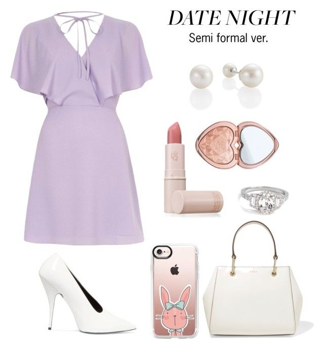"""""""Summer date night outfit {semi formal version}"""" by trishsa on Polyvore featuring River Island, STELLA McCARTNEY, Lipstick Queen, Too Faced Cosmetics, DKNY and Casetify"""
