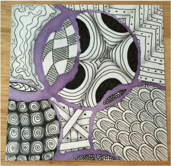 Watercolour Zentangle Class Blog Post