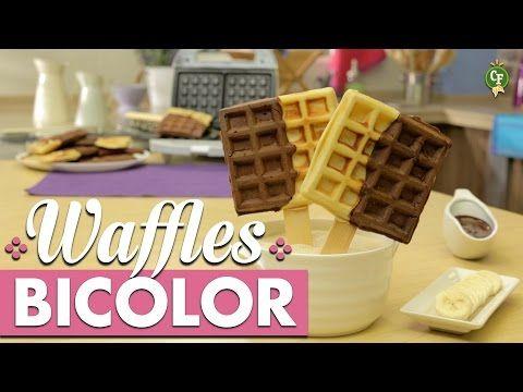 ¿Cómo preparar Waffles Bicolor? - Cocina Fresca - YouTube