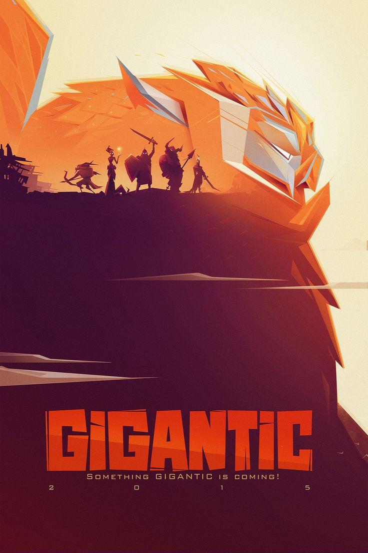 Gigantic Game Poster, Amin Faramarzian on ArtStation at https://www.artstation.com/artwork/yEnWn