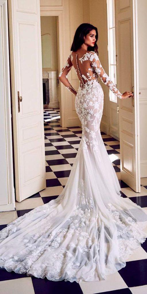 7888ac995 Vestidos de novia con espalda descubierta  vestidos de novia blancos   vestidos de novia sexy