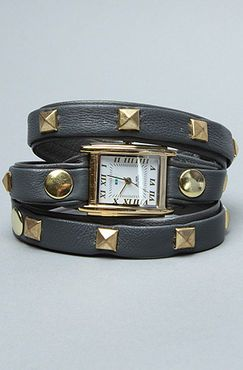 The Pyramid Stud Watch in Gray by La Mer - $106
