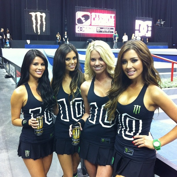 monster energy girl toples