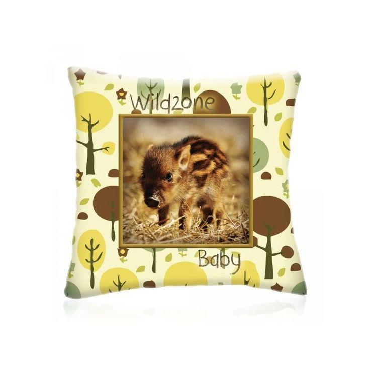 WILD ZONE VADDISZNÓ állatos díszpárna 28x28 cm - Díszpárna.com Webáruház