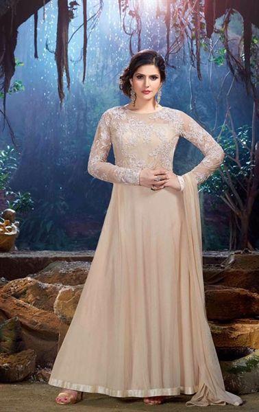 Gleaming Cream Designer Bollywood Suit