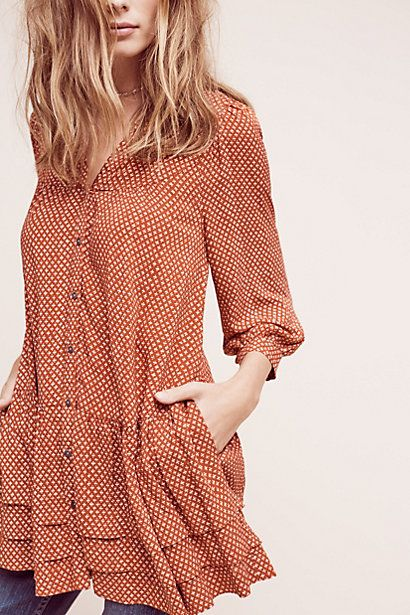 Pavin Buttondown Tunic #anthropologie                                                                                                                                                                                 More