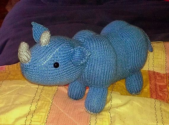 Knit Blue Rhino