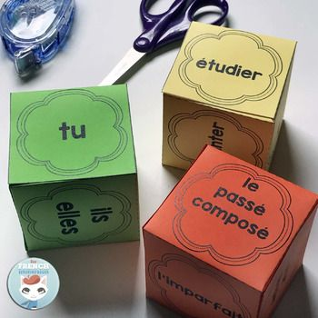 French language DICE: verbs, personal pronouns & more!